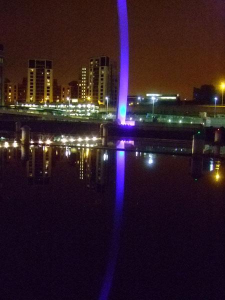 Millennium Bridge with reflection, Newcastle, UK