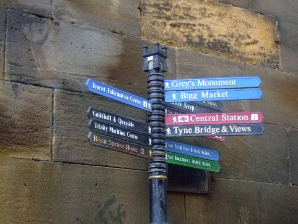 Street signs, Newcastle, UK
